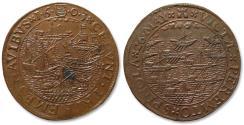 World Coins - AE jeton 1603 Spanish Netherlands: the naval battle of Sluis, death of Admiral Fédérigo Spinola