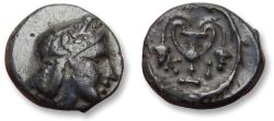 Ancient Coins - Bithynia. Kios. AE 11mm unit - high quality coin - circa 350-300 B.C. - with old auction/collector ticket -