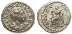 Ancient Coins - AR denarius Julia Maesa, Rome 218-222 A.D. -- virtually as struck, super coin --
