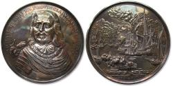 World Coins - Huge 72mm AR medal commemorating Admiral Michael de Ruyter & the 4 day naval battle during the Anglo-Dutch naval wars