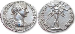 Ancient Coins - AR denarius Trajan / Trajanus, Rome mint 114-117 A.D.