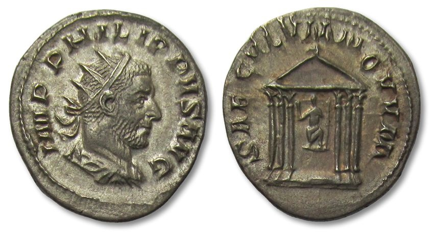 Ancient Coins - AR antoninianus Philip I the Arab, Rome 248 A.D.