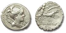 Ancient Coins - HS: AR denarius Ti. Claudius Nero, Rome 79 B.C.