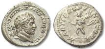 Ancient Coins - AR denarius Caracalla, Rome 210-213 A.D. --MARTI PROPVGNATORI--