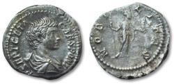 Ancient Coins - AR denarius Geta as caesar, Rome 200-202 A.D. --NOBILITAS--
