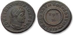 Ancient Coins - AE follis Constantine II as Caesar, Siscia mint 317-337 A.D. - ΓSIS and branch symbol -