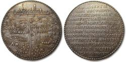 World Coins - Spanish Netherlands 80 Years' War, 51mm AR medal 1594: siege & capture of Groningen -- one of the finest known --