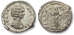 Ancient Coins - AR denarius Julia Domna, Rome 196-211 A.D. -- PIETAS PVBLICA, beauty --