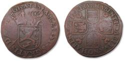 World Coins - Spanish Netherlands AE jeton uncertain mint, undated - attributed to 1577 in Gerrit van Orden's book