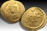 AV gold solidus Maurice Tiberius, Constantinople mint 582-602 A.D. - officina letter Γ -