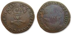 World Coins - Spanish Netherlands AE jeton 1577: on the peace negotiations / hope for peace
