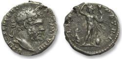 Ancient Coins - AR denarius Septimus / Septimius Severus, Rome 197 A.D. -- LIBERO PATRI, scarce type --