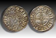 World Coins - Short cross type AR penny Cnut the Great - BATH mint 1029-1035 A.D. - moneyer ÆGELPINE