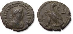 Ancient Coins - 24mm BI billon tetradrachm emperor Gallienus - near mint state - Egypt, Alexandria mint dated RY 4 = 257-258 A.D.