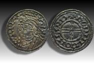 World Coins - Short cross type AR penny Cnut the Great - LONDON mint 1029-1035 A.D. - moneyer GODINC - superb coin