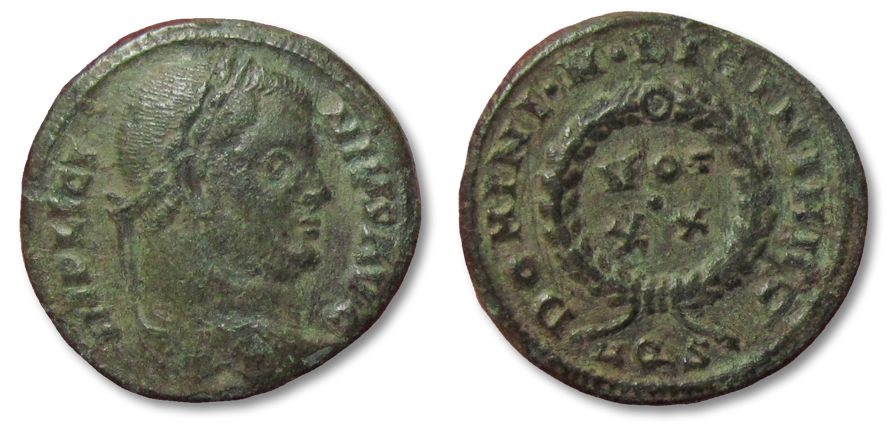 Ancient Coins - MO: AE19 follis Licinius, Aquileia 320-321 A.D.