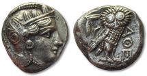 AR tetradrachm Athens, 353-294 B.C.