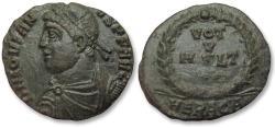 Ancient Coins - AE 19mm follis/nummus Jovian / Jovianus, Heraclea mint 363-364 A.D. -- great condition --