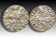 World Coins - Quatrefoil type AR penny Cnut the Great - LONDON mint 1017-1023 A.D. - moneyer EADPERD