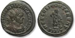 Ancient Coins - AE antoninianus Maximianus Herculius, Ticinum 285-288 A.D.