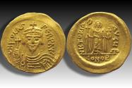 Ancient Coins - AV gold solidus Phocas / Focas, Constantinople 602-610 A.D. - sharply struck & some luster in fields -