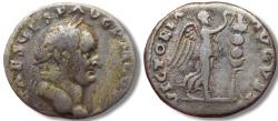 Ancient Coins - AR denarius, Vespasianus / Vespasian. Rome 72-73 A.D. - VICTORIA AVGVSTI, referring to victories in Judea -