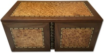 Ancient Coins - Large sized elm veneered coin case - holds 127 coins up to 46mm -