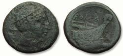 Ancient Coins - AE semuncia, anonymous issue, Rome 217-215 B.C.