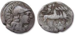 Ancient Coins - AR denarius L. Antestius Gragulus, Rome 136 B.C.
