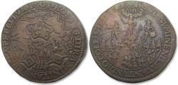 World Coins - Spanish Netherlands AE jeton 1601: on the siege of Rijnberg (Rheinberg)