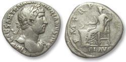 Ancient Coins - AR denarius Hadrian / Hadrianus, Rome 119-122 A.D. - Salus seated left -