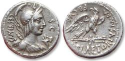 Ancient Coins - AR denarius M. Plaetorius Cestianus. Rome 67 B.C.
