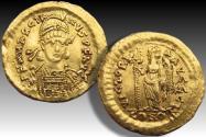 AV gold solidus Marcian / Marcianus, Constantinople mint 450-457 A.D. - officina letter I -