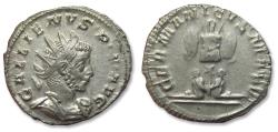 Ancient Coins - AR antoninianus Gallienus, Colonia Agrippinensis / Cologne mint AD 257-258 - rare in this near mint state - GERMANICVS MAX V