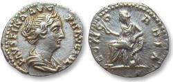 Ancient Coins - AR denarius Faustina Junior, struck under Antoninus Pius, 138-161 A.D.