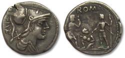 Ancient Coins - AR denarius Ti. Veturius, Rome 137 B.C.