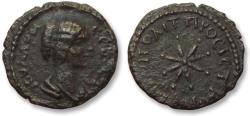 Ancient Coins - AE 17 (assarion) Julia Domna, - Nikopolis ad Istrum 193-217 A.D. --star with eight rays --