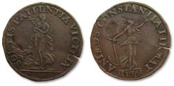 World Coins - Spanish Netherlands AE jeton 1576: on the hope for peace