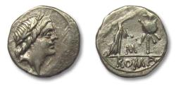 """Ancient Coins - Anonymous issues. AR Quinarius, Rome 81 B.C. - control letter """"M"""" -"""