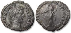 Ancient Coins - AR denarius Commodus, Rome mint 186-187 A.D. - scarce variety?
