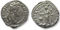 Ancient Coins - AR denarius Commodus. Rome 192 A.D. - Fides left, with star in field -