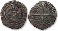 World Coins - AR halfpenny Henry VI, Calais mint 1422-1430 A.D. -- Annulet issue --
