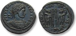 Ancient Coins - AE follis Constantius II as Caesar, Lyon mint 333-334 A.D. -- mint state, beauty --