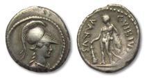 Ancient Coins - AR denarius C. Vibius Varus, Rome 42 B.C. -- scarcer coin in great condition --