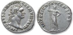Ancient Coins - AR denarius Domitian / Domitianus, Rome 91 A.D. - IMP XXI COS XV CENS P P P -