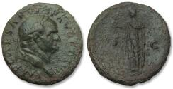 Ancient Coins - AE As Vespasianus, Rome 76 A.D. -- SPES walking left --
