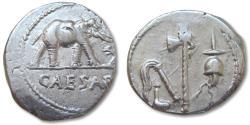 Ancient Coins - AR denarius C. Julius Caesar, military mint travelling with Caesar in Gaul 49-48 B.C.