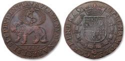 World Coins - Spanish Netherlands AE jeton Antwerp mint 1612: for the bureau of finance in Brabant