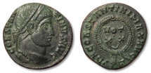 Ancient Coins - MO: AE follis Constantine I the Great, Ticinum 322-325 A.D. --EF condition--