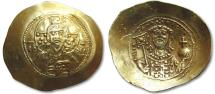 Ancient Coins - AV gold / electrum histamenon nomisma Michael VII Ducas, Constantinople 1071-1078 A.D.
